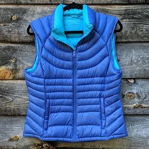 Bernardo Goose Down Puffer Vest in Blue / Teal